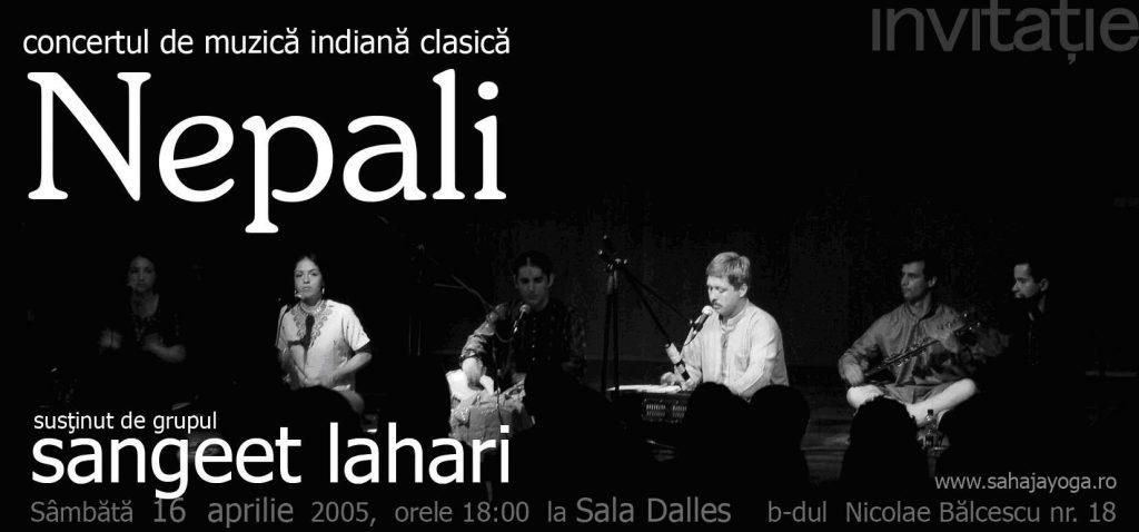 Sahaja Yoga Romania - Concert de muzica clasica indiana - Bucuresti - Sala Dalles - Sangeet Lahari - Nepali