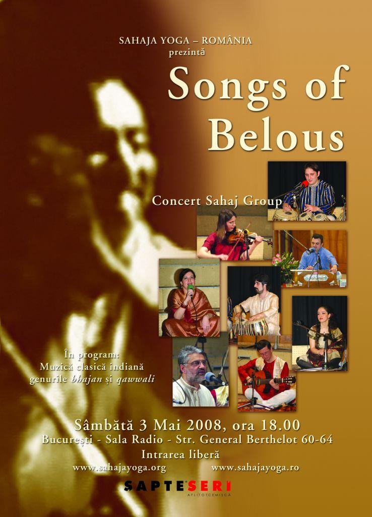 Sahaja Yoga Romania - Sahaj Group - Songs of Belous - Sala Radio - Bucuresti - muzica clasica indiana